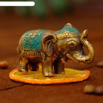 Сувенир бронза слоник 6х3,5х3,7 см