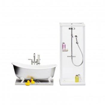 Набор мебели для кукол «ванная и душевая»