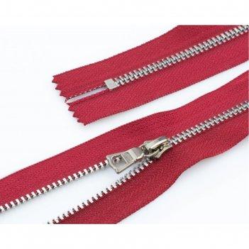 Молния для одежды, неразъёмная, №3тт, 60 см, цвет красный