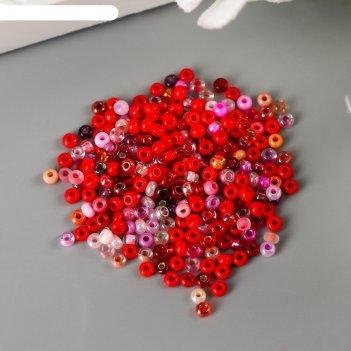 Бисер чехия gamma 50гр ассорти (№001 красный)