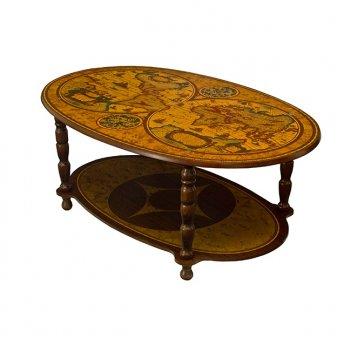 135 сервировочный столик овальный, 67х102х h.41 см