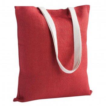 Холщовая сумка на плечо juhu красная
