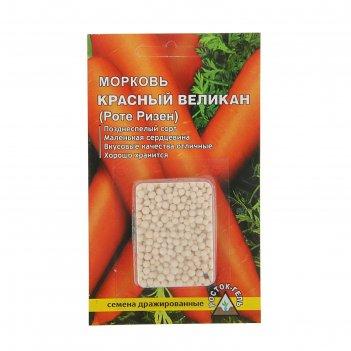 Семена морковь красный великан простое драже
