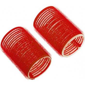 Бигуди-липучки dewal beauty красные d 36ммx63мм(10шт/упак)