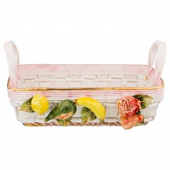 Изделие декоративное корзина с фруктами