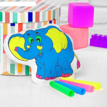 Игрушка-раскраска «слоник» (без маркеров) в пакете