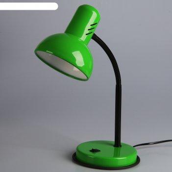 Светильник настольный нт 2077а (220 в лн е27) зеленый весенний