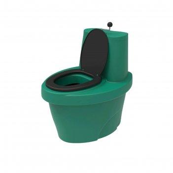 Туалет торфяной rostok зеленый, бак 30л, накопитель 100 л.