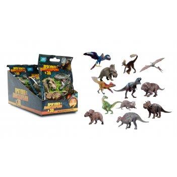 1toy прогулки с динозаврами 3d, фигурка 7,5 см.в фольг. пакете, 1 фигурка,