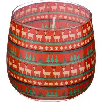 Ароматическая свеча в стакане диаметр=8 см. высота=7 см. цвет зеленый