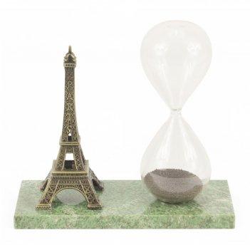Песочные часы на магните эйфелева башня жадеит 135х60х125 мм 400 гр.