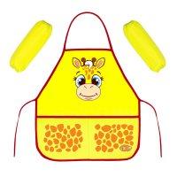 Набор детский для творчества collorista жираф, фартук + нарукавники, 45х49