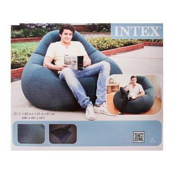 Кресло-мешок надувное, зеленое 122х127х81 см