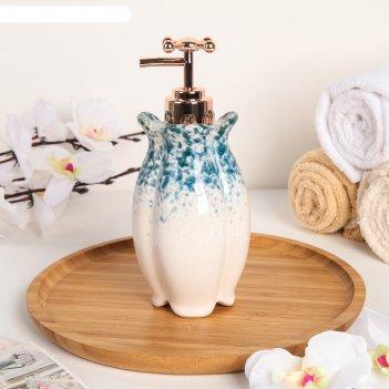 Дозатор для жидкого мыла «афродита», цвет синий