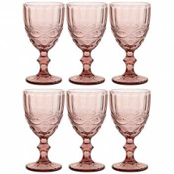 Набор бокалов для вина серпентина из 6шт. серия muza color 300мл. / в=17 с