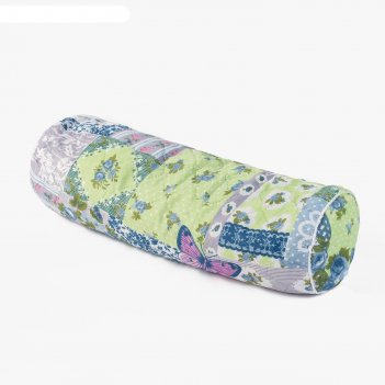 Подушка-валик 50х18х18 см, цвет микс