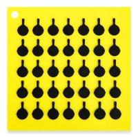 Подставка под горячее с логотипом сковороды, квадратная, размер: 19 х 19 с