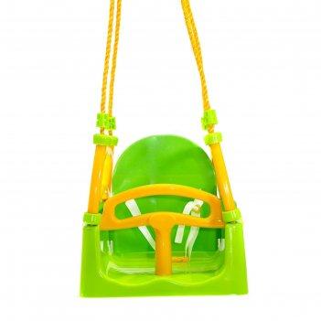 Качели детские, подвесные, цвет зелёный