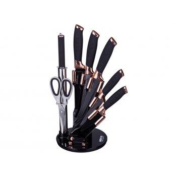 Набор ножей с силиконовыми ручками на пластик. под...