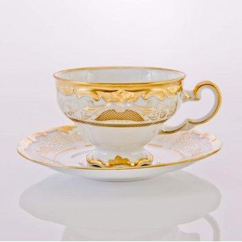 """Набор чайный 210мл. на 6перс.12пред.подарочный """"симфония золотая&quot"""