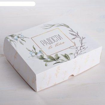 Коробочка для кондитерских изделий «радости»  17 x 20 x 6 см