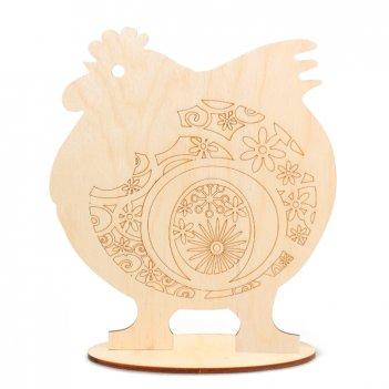 Форма для декора на подставке петух с цветочным орнаментом