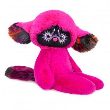 Мягкая игрушка тёко цвет фуксия 25 см lr25-05