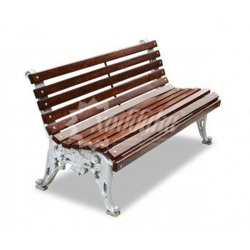 Скамейка алюминиевая «белые ночи» без подлокотников 1,8 м