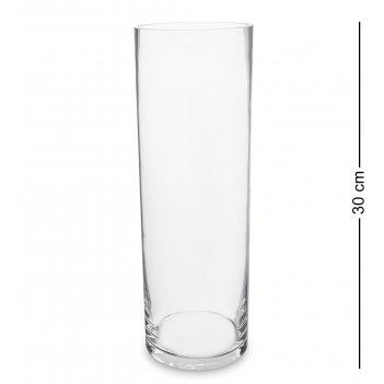 Nm-26992  ваза-цилиндр стеклянная 30 см (неман)
