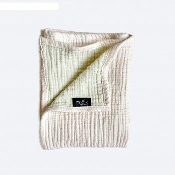 Муслиновое одеяло «пудра», размер 120x100 см