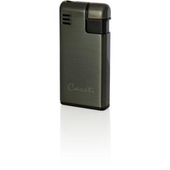 Зажигалка caseti газовая пьезо, сплав цинка, оружейный хром, 2