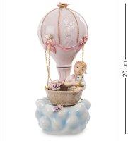 Cms-27/18 фигурка муз. девочка на воздушном шаре (pavone)