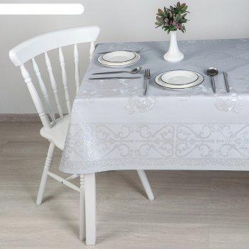 Клеенка столовая на ткани (рулон 20 метров), ширина 137 см, цвет серый