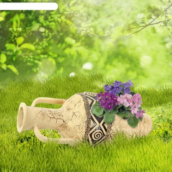 Садовая фигура рима амфора гигант шамот