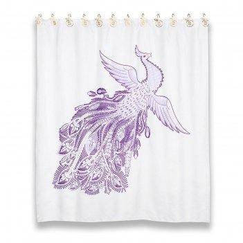 Штора из ткани для ванной комнаты 180х200 см fairytale