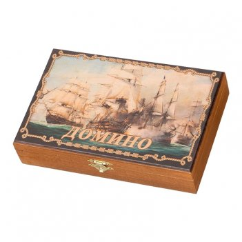 Домино подарочное в шкатулке морское сражение