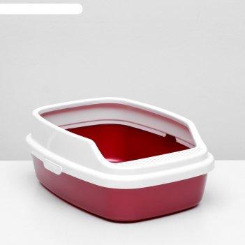 Туалет айша с бортом 53 х 39 х 21 см, красный перламутр