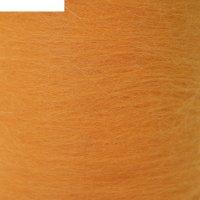 Шерсть для валяния кардочес 100% полутонкая шерсть 200гр (035 оранжевый)