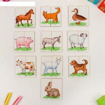 Картинки-половинки ферма, картинки нарисованы, размер картинки: 8,5 x 8,5