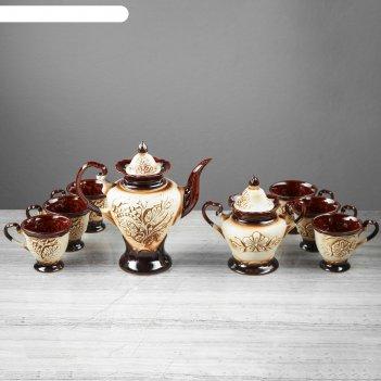 Набор чайный ева 8 предметов, шамот