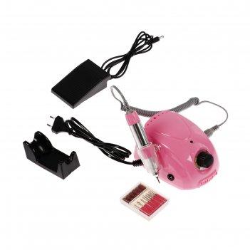 Машинка для маникюра luazon lmh-04, регул.скорости, педаль, 6 насадок, 250