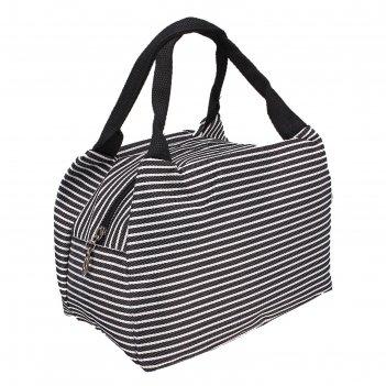 Косметичка-сумочка морячка, 1 отдел на молнии, 2 ручки, цвет черный