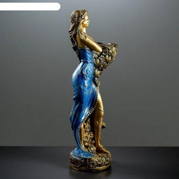 Статуэтка лесная фея 85 см.  синия