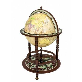 88.ru глобус-бар с картой на русском языке, сфера 50 см