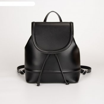 Рюкзак, отдел на клапане, цвет чёрный