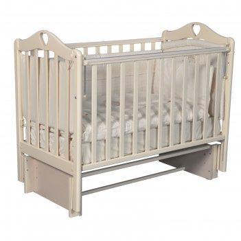 Кроватка детская кедр «каролина» 3/5, автостенка, универсал. маятник, цвет