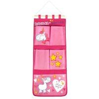Кармашки на стену доченька-лапочка (5 отделений), цвет розовый