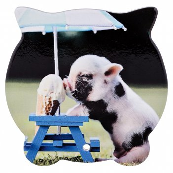 Подставка под горячее свинка-сладкоежка 16*16 см (кор=48 шт.)