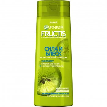 Шампунь garnier fructis «сила и блеск», укрепление, для нормальных волос,