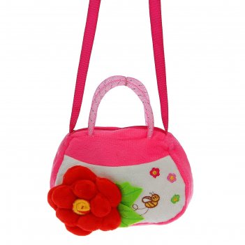 Мягкая сумочка цветок, цвета микс